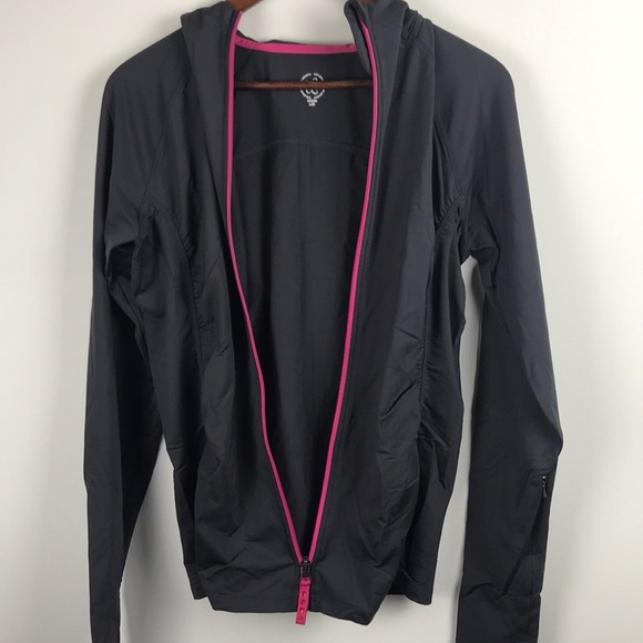 Tuff Athletics Hoodie Jacket Large Gray